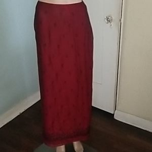 Vintage HAROLD'S red/black skirt